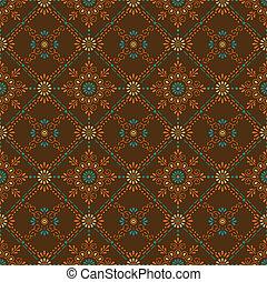 paisley-floral, seamless, fundo