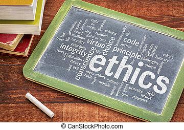 palavra, ética, nuvem, moral, dilema