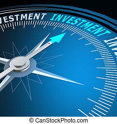 palavra, investimento, compasso