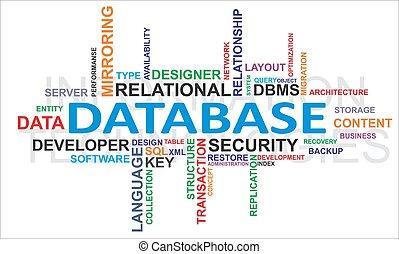 palavra, -, nuvem, base dados