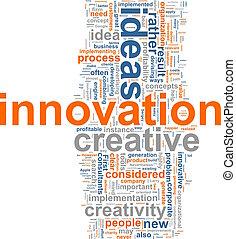 palavra, nuvem, inovação
