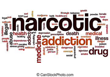 palavra, nuvem, narcótico