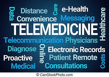 palavra, nuvem, telemedicine