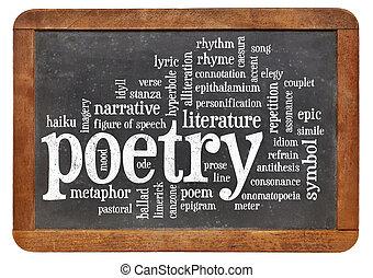 palavra, poesia, nuvem