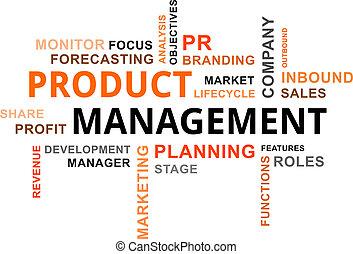 palavra, produto, gerência, -, nuvem