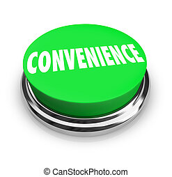 palavra, serviço, rapidamente, conveniência, buton, verde, fácil, redondo