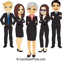 paleto, pretas, equipe negócio