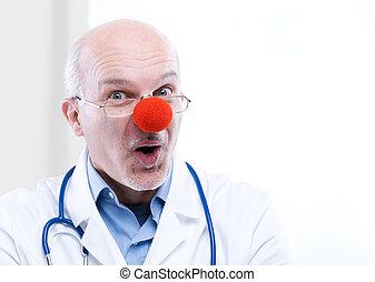 palhaço, doutor