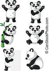 panda, caricatura