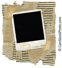 papelão, polaroid