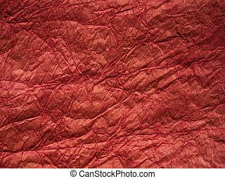 papel amarrotado, vermelho, textura