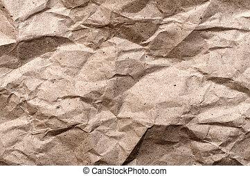papel, esmagado, textura