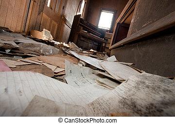 papel, livingroom, chão