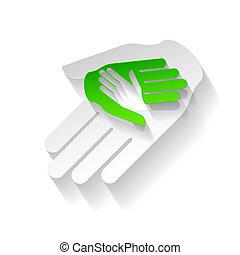 papel, mãos