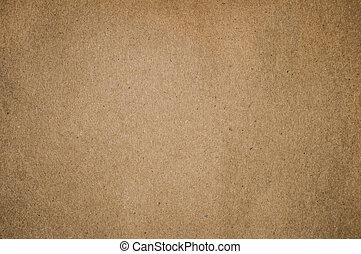 papel marrom, textured, fundo, em branco