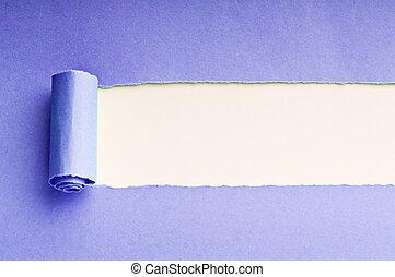 papel, mensagem, rasgado, seu, espaço