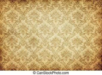 papel parede, antigas, damasco