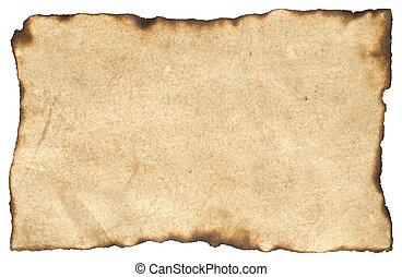 papel, pergaminho, em branco