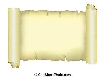 papel, pergaminho, vetorial, antigas