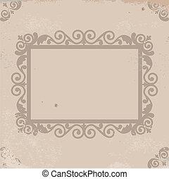 papel, quadro, antigas
