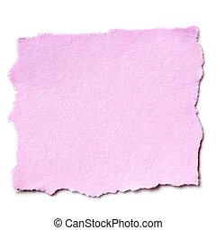 papel rasgado, cor-de-rosa, isolado