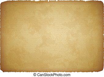 papel rasgado, envelhecido, bordas