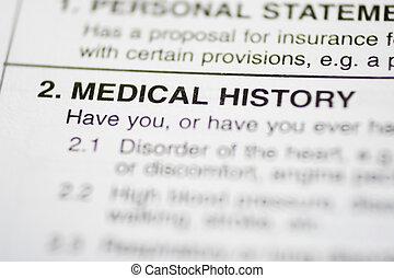 paperwork, #1, -, história médica