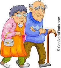 par, antigas, feliz