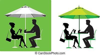 par, café ao ar livre