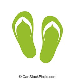 par, flops., verde, inverter, ícone