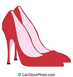 par, isolado, sapatos