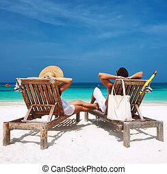 par, maldives, praia, branca, relaxe