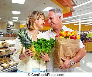 par, vegetables., idoso