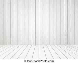parede, branca, madeira, fundo, chão
