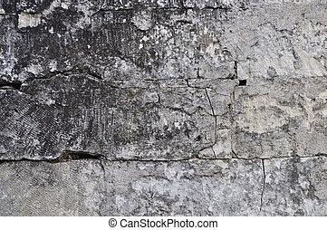 parede, cinzento, áspero, pedra, fundo
