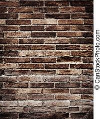 parede, grungy, tijolo, antigas, textura