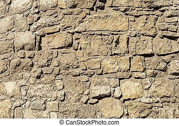 parede, marrom, áspero, pedra, fundo