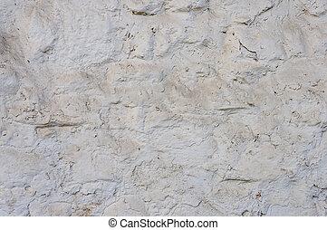 parede, pedra, branca, áspero, fundo