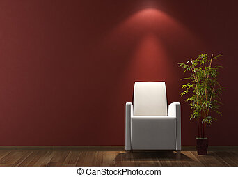 parede, poltrona, desenho, interior, branca, bordeaux