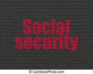 parede, segurança, fundo, segurança social, concept:
