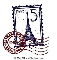 paris, isolado, ilustração, único, vetorial, ícone