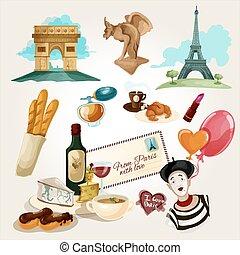 paris, jogo, touristic