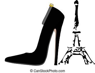 paris, sapatos