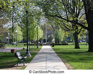 parque cidade, caminho