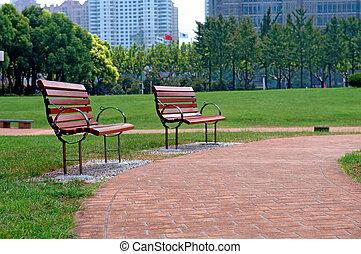 parque cidade, maneira, passeio