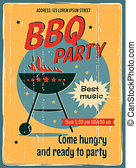partido, bbq, cartaz