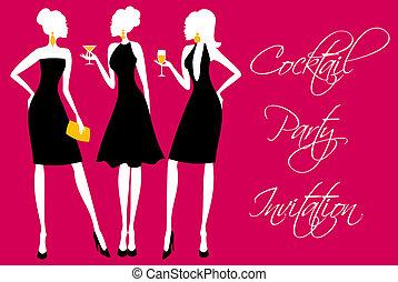 partido, coquetel, convite
