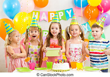 partido, crianças, ou, aniversário, crianças