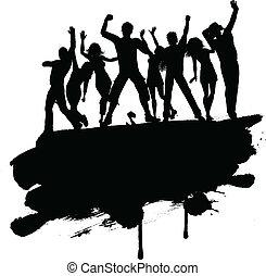 partido, pessoas, grunge, 3103