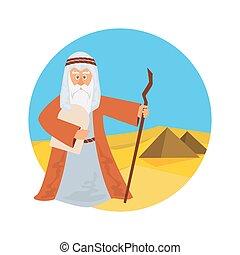 partindo, rachar, mar, -, egypt., israelita, vermelho, moses